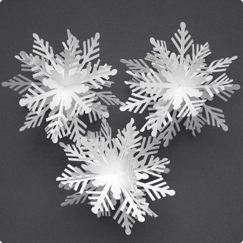 Снежинки 3д своими руками фото