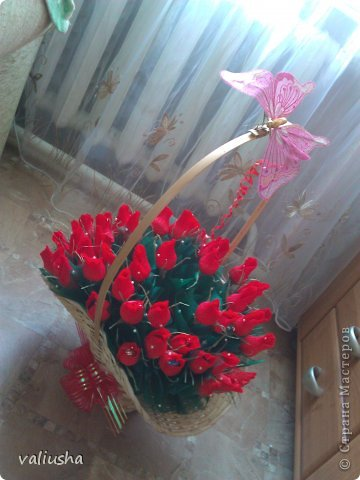 Корзина роз из конфет своими руками мастер класс