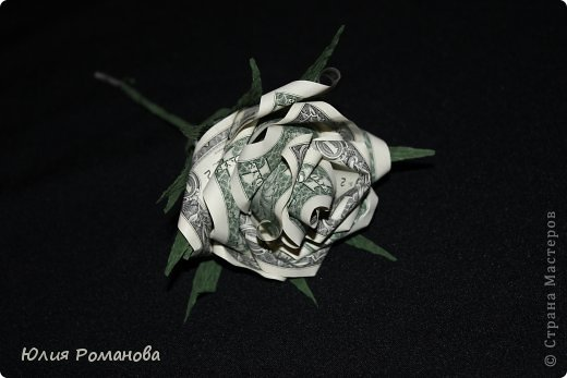 Роза из денег +МК фото 1