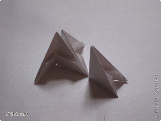 Наконец я выделила свободное время и заняла его непосредственно изготовлением этой Кисули. Это мой первый мастер-класс и я надеюсь что он будет понятен даже новичкам в искусстве модульного оригами. фото 3
