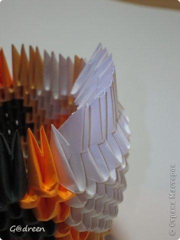 Наконец я выделила свободное время и заняла его непосредственно изготовлением этой Кисули. Это мой первый мастер-класс и я надеюсь что он будет понятен даже новичкам в искусстве модульного оригами. фото 11