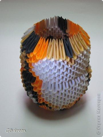 Наконец я выделила свободное время и заняла его непосредственно изготовлением этой Кисули. Это мой первый мастер-класс и я надеюсь что он будет понятен даже новичкам в искусстве модульного оригами. фото 16