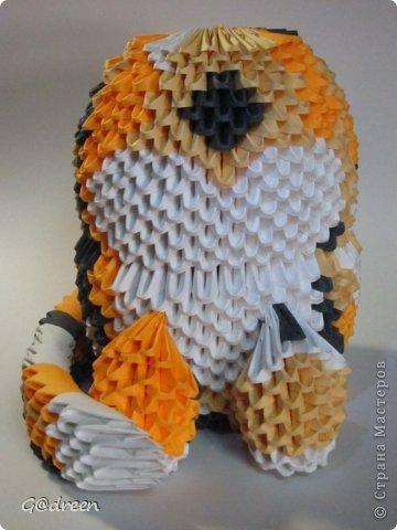 Наконец я выделила свободное время и заняла его непосредственно изготовлением этой Кисули. Это мой первый мастер-класс и я надеюсь что он будет понятен даже новичкам в искусстве модульного оригами. фото 37