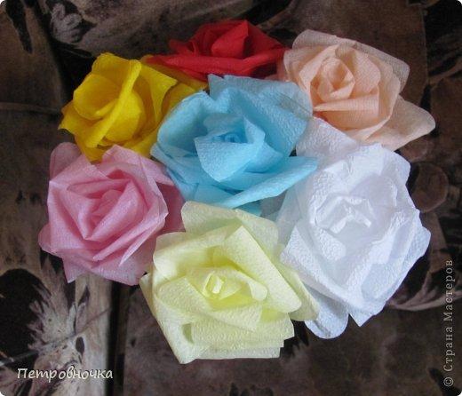 Эти топиарии я сделала сегодня вечером. Теперь повторила цветы из цветной ксероксной бумаги. фото 8