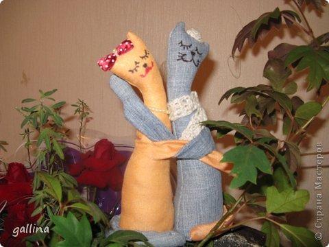 Котики пошиты в подарок подруге на годовщину свадьбы. фото 1