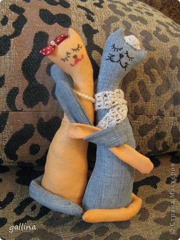 Котики пошиты в подарок подруге на годовщину свадьбы. фото 2