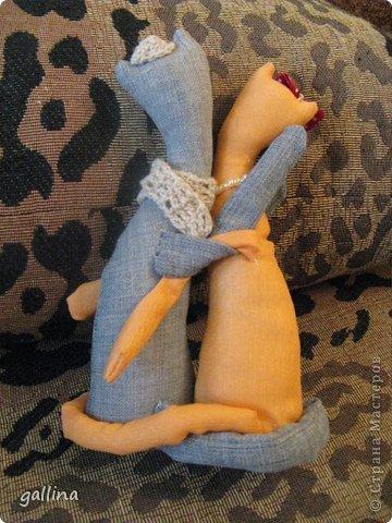 Котики пошиты в подарок подруге на годовщину свадьбы. фото 3