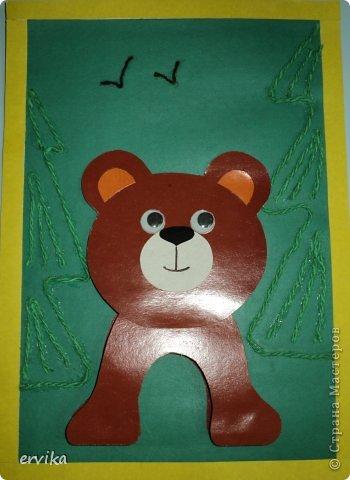 Поделки с ребенком медведь