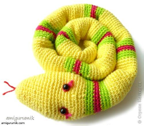 крючком Вязаная Змея