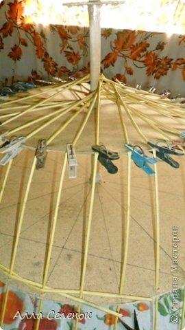 Мастер-класс Поделка изделие Плетение Абажур на заказ Бумага газетная Клей Краска Трубочки бумажные фото 3.