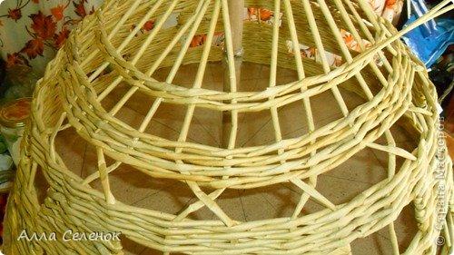 Мастер-класс Поделка изделие Плетение Абажур на заказ Бумага газетная Клей Краска Трубочки бумажные фото 9.