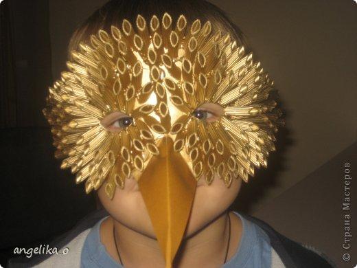 В садике попросили сделать маску птицы, кроме макарон дома ничего не было! фото 2