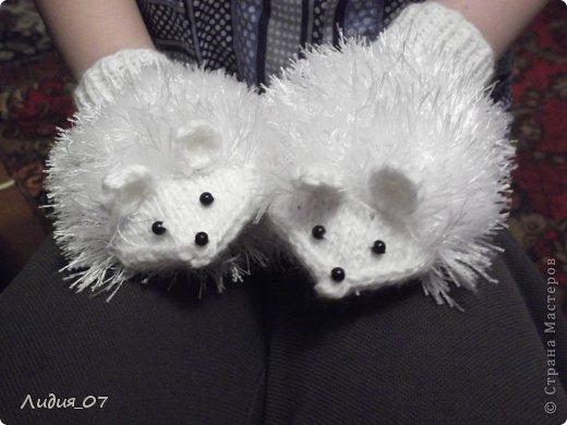 Мастер-класс Вязание Варежки-Мышки Пряжа фото 1