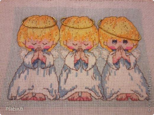 Три ангелочка вышивка схема примета 41