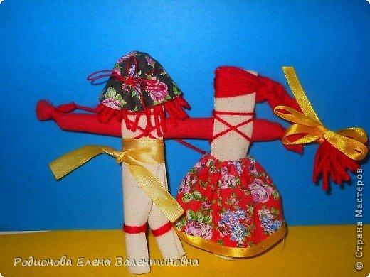 """Это кукла """"Девка  - Баба"""". Кукла готовила девочку к взрослой жизни, показывая, что не всегда жизнь будет беспечной. Кукла Девка - Баба представляет собой куклу - перевертыш. (Сторона """"Девка"""") фото 11"""