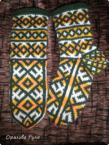 Теплые носки с орнаментом. Джурабы. фото 4