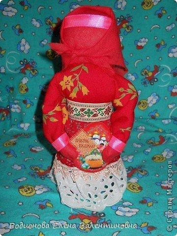 """Это кукла """"Девка  - Баба"""". Кукла готовила девочку к взрослой жизни, показывая, что не всегда жизнь будет беспечной. Кукла Девка - Баба представляет собой куклу - перевертыш. (Сторона """"Девка"""") фото 8"""