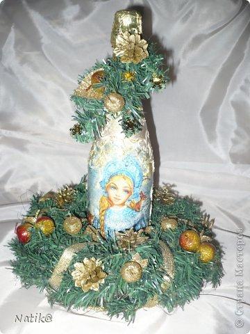 Рождественский венок на стол. фото 1
