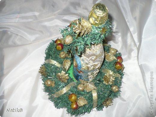 Рождественский венок на стол. фото 2