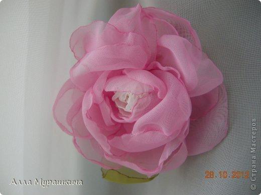 Своими руками цветок из вуали 86