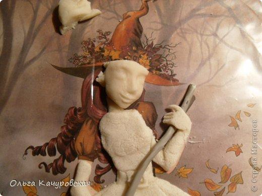 Картина панно рисунок Поделка изделие Лепка Баба Яга в молодости  -   Краска Тесто соленое фото 14