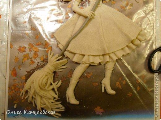 Картина панно рисунок Поделка изделие Лепка Баба Яга в молодости  -   Краска Тесто соленое фото 15