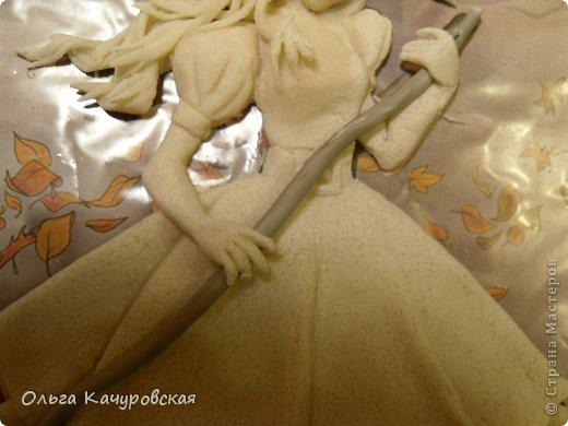 Картина панно рисунок Поделка изделие Лепка Баба Яга в молодости  -   Краска Тесто соленое фото 16