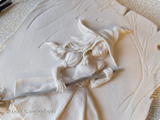 Картина панно рисунок Поделка изделие Лепка Баба Яга в молодости  -   Краска Тесто соленое фото 19