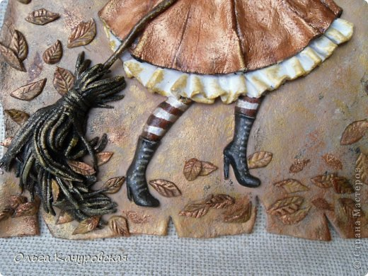 Картина панно рисунок Поделка изделие Лепка Баба Яга в молодости  -   Краска Тесто соленое фото 10
