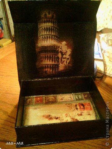 Шкатулка + декупажные карты. фото 2