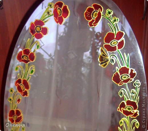 Рисуем красками по зеркалу