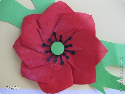 Оригами Июль Мак Бумага