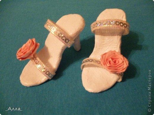"""Туфельки были сделаны на день рождения маминой сотрудницы. Для поздравительной сценки из сказки про """"Золушку"""" фото 1"""