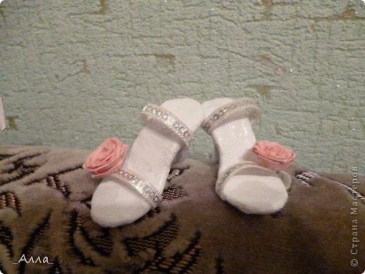 """Туфельки были сделаны на день рождения маминой сотрудницы. Для поздравительной сценки из сказки про """"Золушку"""" фото 3"""