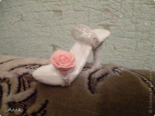 """Туфельки были сделаны на день рождения маминой сотрудницы. Для поздравительной сценки из сказки про """"Золушку"""" фото 4"""