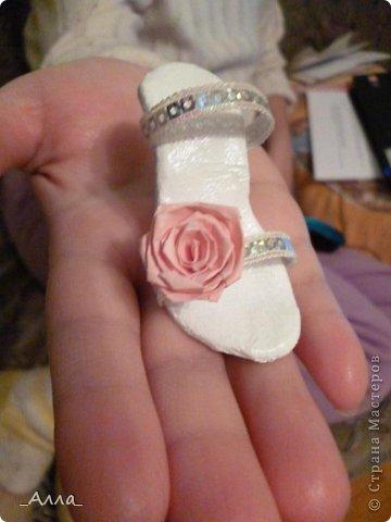 """Туфельки были сделаны на день рождения маминой сотрудницы. Для поздравительной сценки из сказки про """"Золушку"""" фото 5"""