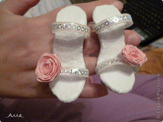 """Туфельки были сделаны на день рождения маминой сотрудницы. Для поздравительной сценки из сказки про """"Золушку"""" фото 6"""