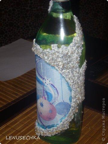 """Добрый день, дорогие мастерицы!  Выставляю на обозрение и на обсуждение мою вторую работу в технике """"декупаж"""" по бутылке. Конечно, это не идеал, но по моему лучше чем предыдущая бутылка получилось?!   Жду Ваших комментариев и отзывов.  Всем удачи!!!  фото 14"""