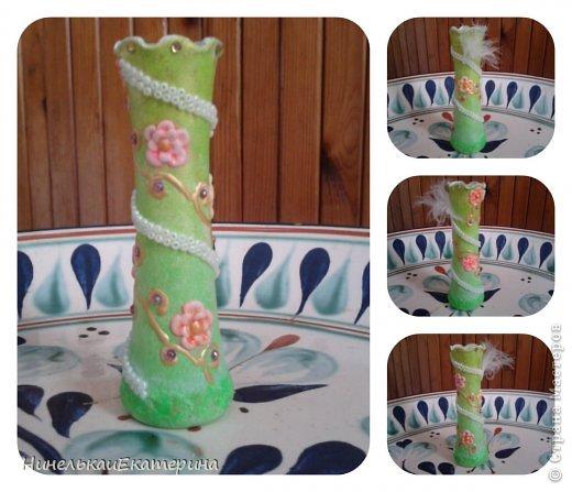 Пять лет ждала эта ваза своего звездного часа. Розочки из холодного фарфора. фото 7
