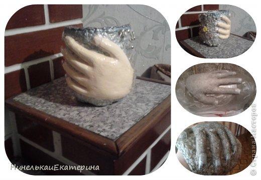 Все началось с освоения техники Папье-маше. Первый результата кашпо-пенек. http://s30893898787.mirtesen.ru/blog/43284905518/TSvetuschiy-pen.-Kashpo-iz-musora Спасибо автору! фото 4