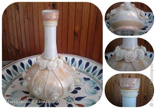 Пять лет ждала эта ваза своего звездного часа. Розочки из холодного фарфора. фото 1