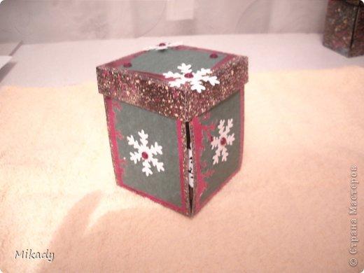Доброго времени суток. Вот такие коробочки сюрпризы мы делаем с детишками на кружке в подарок на Новый год