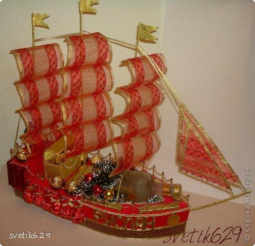 Корабль из конфет своими руками фото