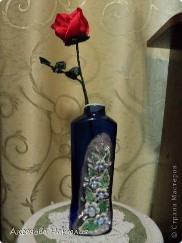 Вот такая розочка из лент у меня получилась. Спасибо за МК http://www.stranamam.ru/article/1850101/ . фото 4