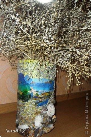 Декор предметов Вазы своими руками Коробки Краска Салфетки фото 4