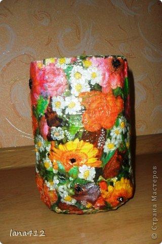 Декор предметов Вазы своими руками Коробки Краска Салфетки фото 5