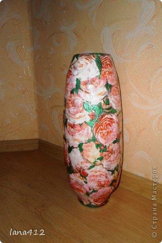 Декор предметов Вазы своими руками Коробки Краска Салфетки фото 6