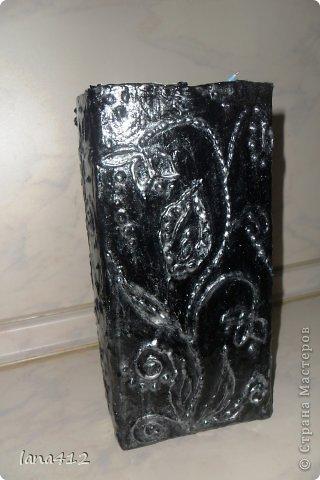 Декор предметов Вазы своими руками Коробки Краска Салфетки фото 7