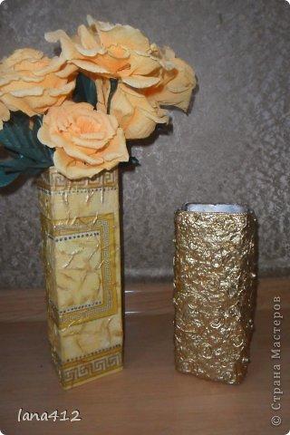 из коробок из-под сока; цветы из гофрированной бумаги фото 1
