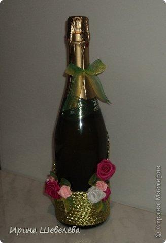 Очень понравилась идея http://stranamasterov.ru/node/298019  Попробовала сделать, а получилось, что эту бутылочку разыграли на свадьбе (номер свидетельства о браке). фото 6